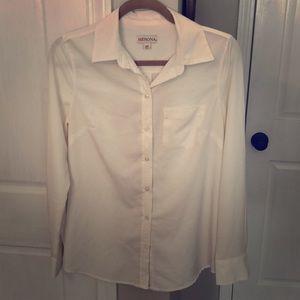 Cream wavy blouse